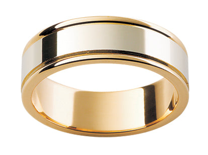 Gents Multi Tone Wedding Ring TBJF107