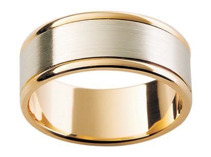 Gents Platinum/ 18ct Yellow Gold Wedding Ring TBJF111