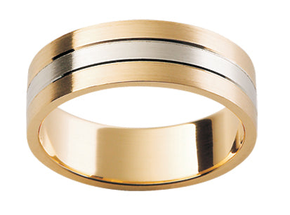 Gents Multi Tone Wedding Ring TBJF114(6mm)