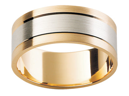 Gents Multi Tone Wedding Ring TBJF114(8mm)