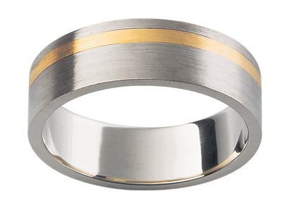 Gents Titanium/9ct Wedding Ring TBJF137
