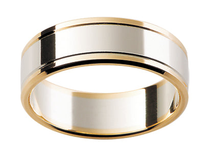 Gents Multi Tone Wedding Ring TBJF141