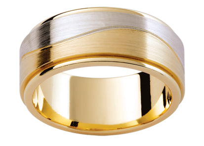 Gents Multi Tone Wedding Ring TBJF185F