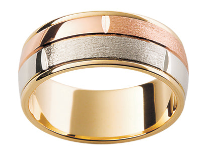 Gents Multi Tone Wedding Ring TBJF87D
