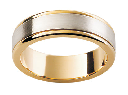 Gents Multi Tone Wedding Ring TBJF96