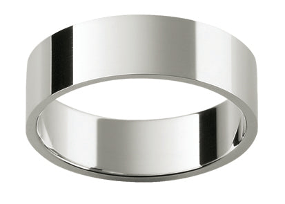 Gents Titanium Flat Wedding Ring