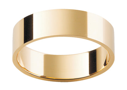 Gents 9ct Flat Gold Wedding Ring.
