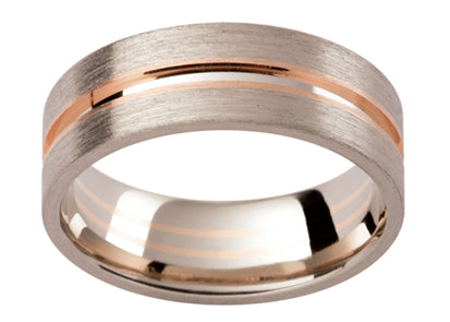Gents Multi Tone Wedding Ring TBJGC150D