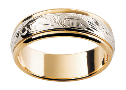 Gents Hand Engraved series Wedding Ring TBJH5
