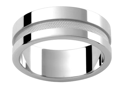 Gents Platinum Wedding Ring TBJP270