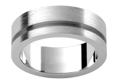 Gents Platinum Wedding Ring TBJP335