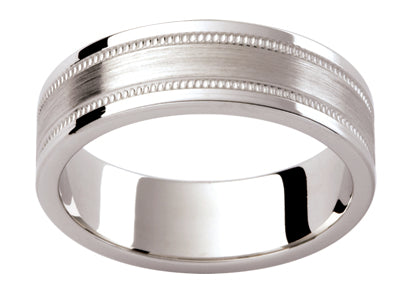 Gents Platinum Wedding Ring TBJP392