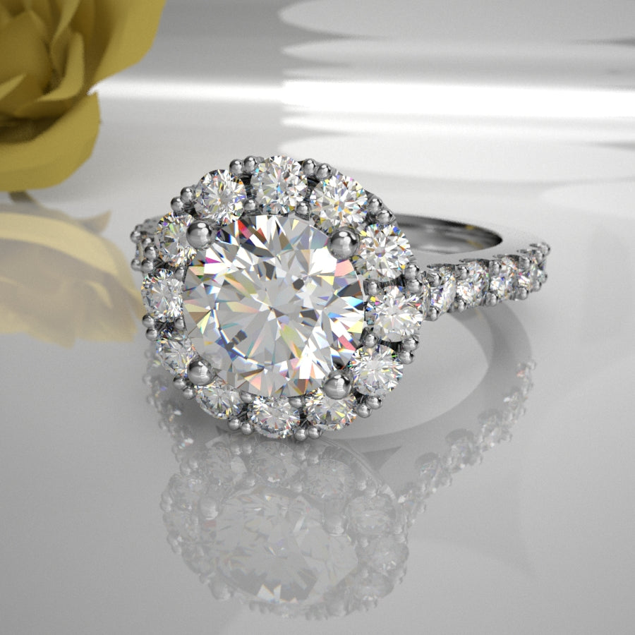 Giselle 0.50Ct Diamond Centre Halo 011 Total Diamond Weight 1.16ct)