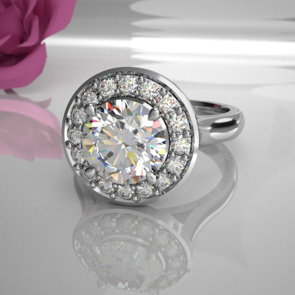 Jasmine 0.50Ct Diamond Centre Halo 015 (Total Diamond Weight .71ct)