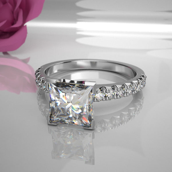 Mary 0.50Ct Princess Diamond 019 (Total Diamond Weight .78ct)