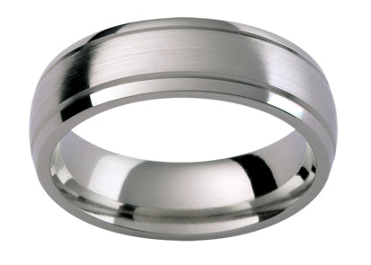 Gents Titanium Wedding Ring TBJTiC39