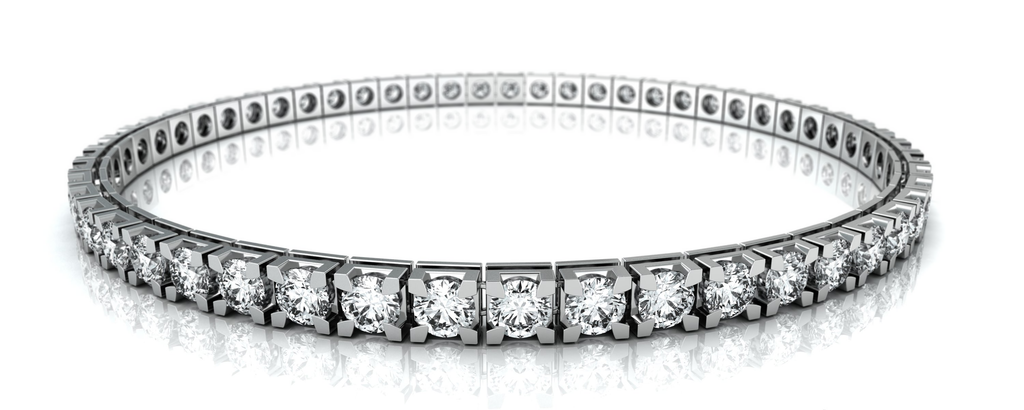 18 Ct White Gold Diamond Bracelet