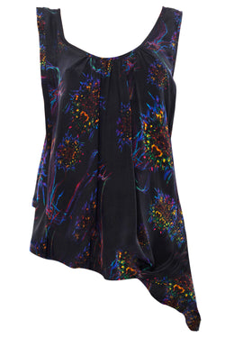BRAINBOW ASYMMETRIC PRINT TOP