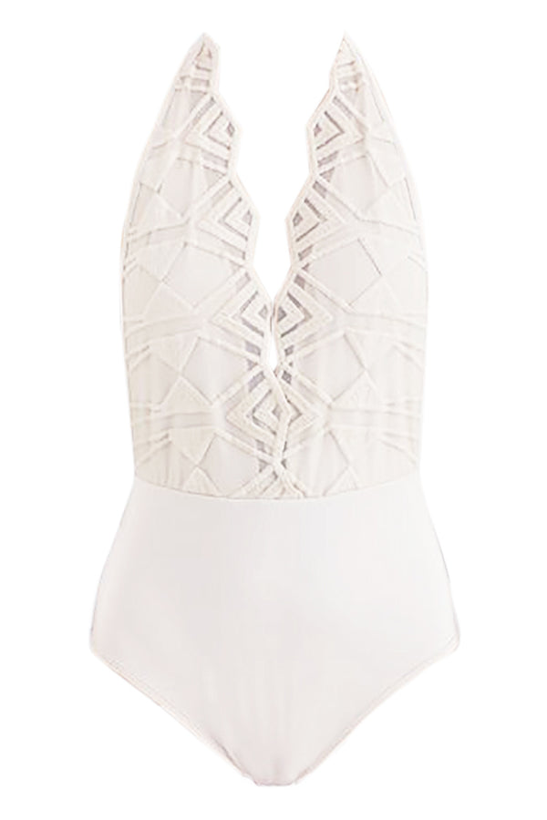 IVORY ASTOR LACE BODYSUIT