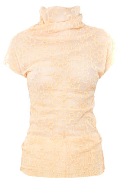 OLD GOLD MOLECULAR LACE TEE