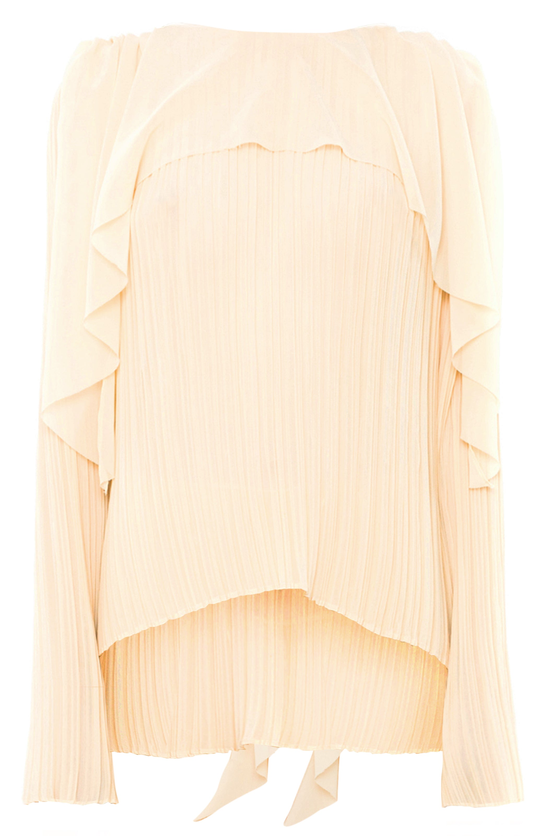 OLD GOLD CRUSH PLEAT BLOUSE