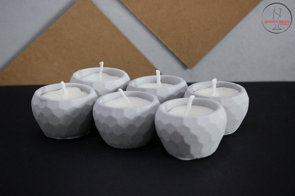Concrete Diya-Set of six (Buy 1 Get 1)