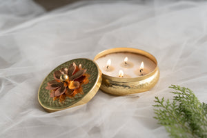 Gold Multi-wick Tart Scented Candle - Mocha Coffee
