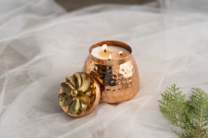 Rose Gold Multi-wick Handi Scented Candle - Patchouli and Cedarwood