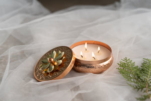 Rose Gold Multi-wick Tart Scented Candle - Musk and geranium