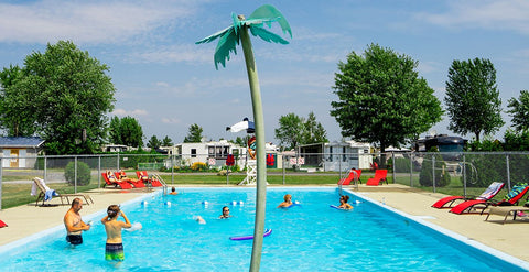 Piscine chauffée camping alouette