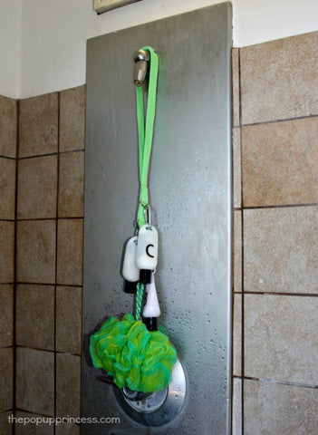 Camping shower caddy