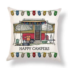 "Load image into Gallery viewer, 9 models - Cushion covers ""Happy Camper"""