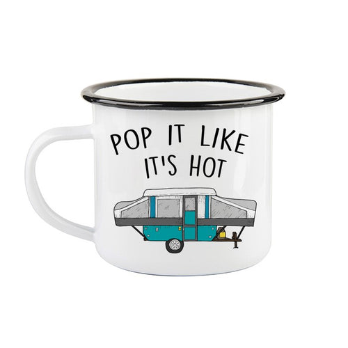 Tasse en émail «Pop-it like it's hot»