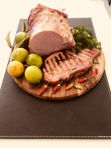 Fassifern Ham & Bacon Co.  Hand Smoked Gluten Free Kassler (Bacon) Chops (2 x 250g approx.)