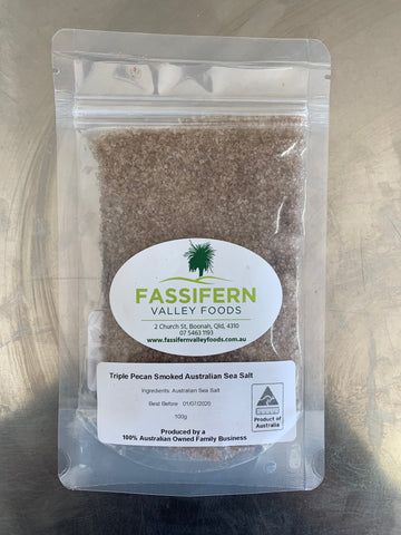 Fassifern Valley Foods - Triple Pecan Smoked Australian Sea Salt - Gluten Free