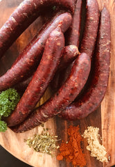 Fassifern Ham & Bacon Co. - Kangaroo & Lemon Myrtle Smoked Sausages - Gluten Free, Free Range (7 per pack)