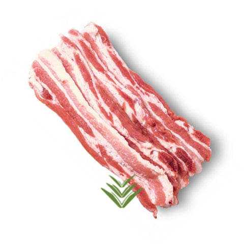 Thin sliced Middle Bacon Nitrate-Free - Sugar Free - Gluten Free (500g) 2mm thick