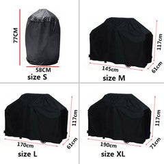 Black Waterproof BBQ Covers  4 Sizes/shapes available