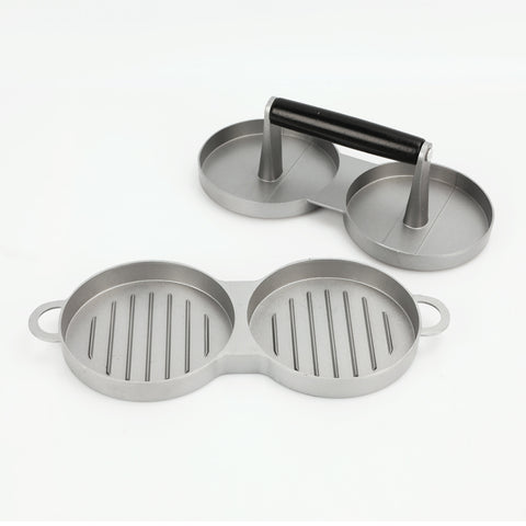 Aluminium Nonstick Double Burger Press