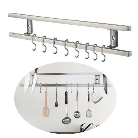 Wall-mounted Magnetic Knife and Utensil Holder 43cm long