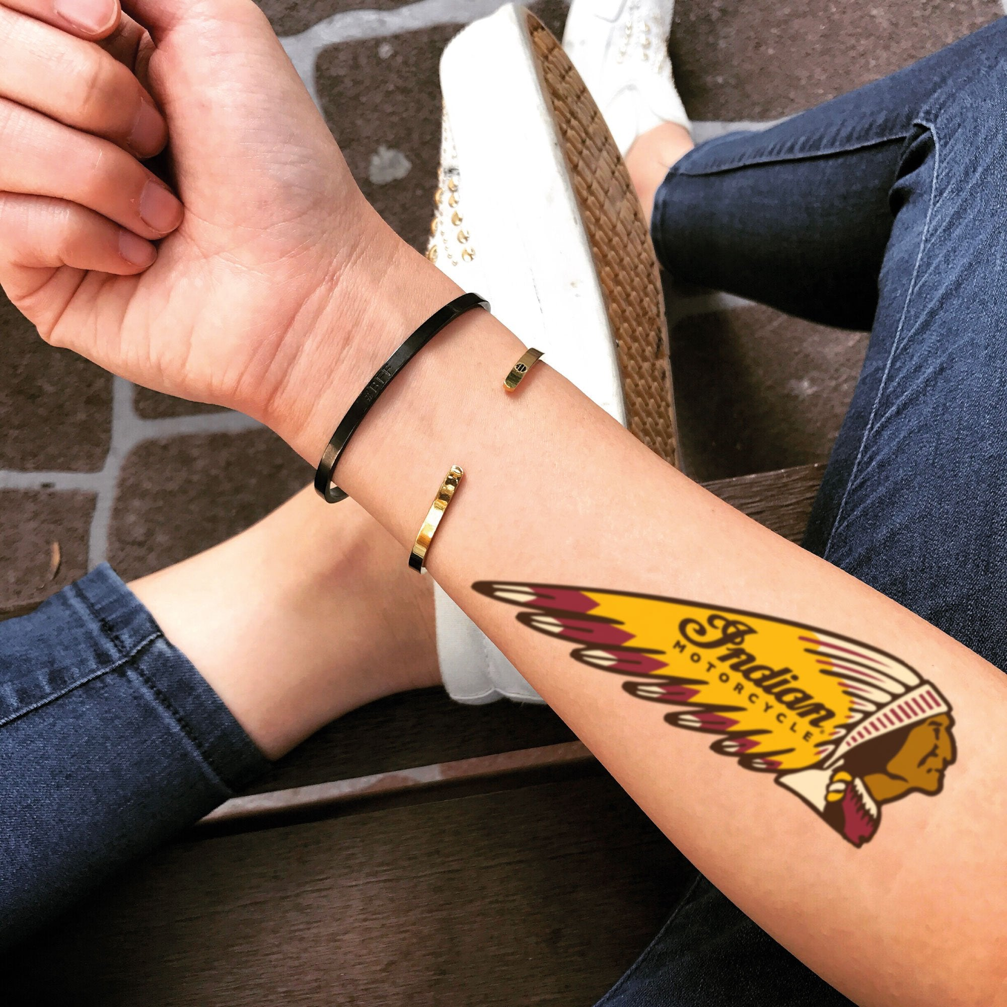 Indian Motorcycle Temporary Tattoo Sticker Ohmytat