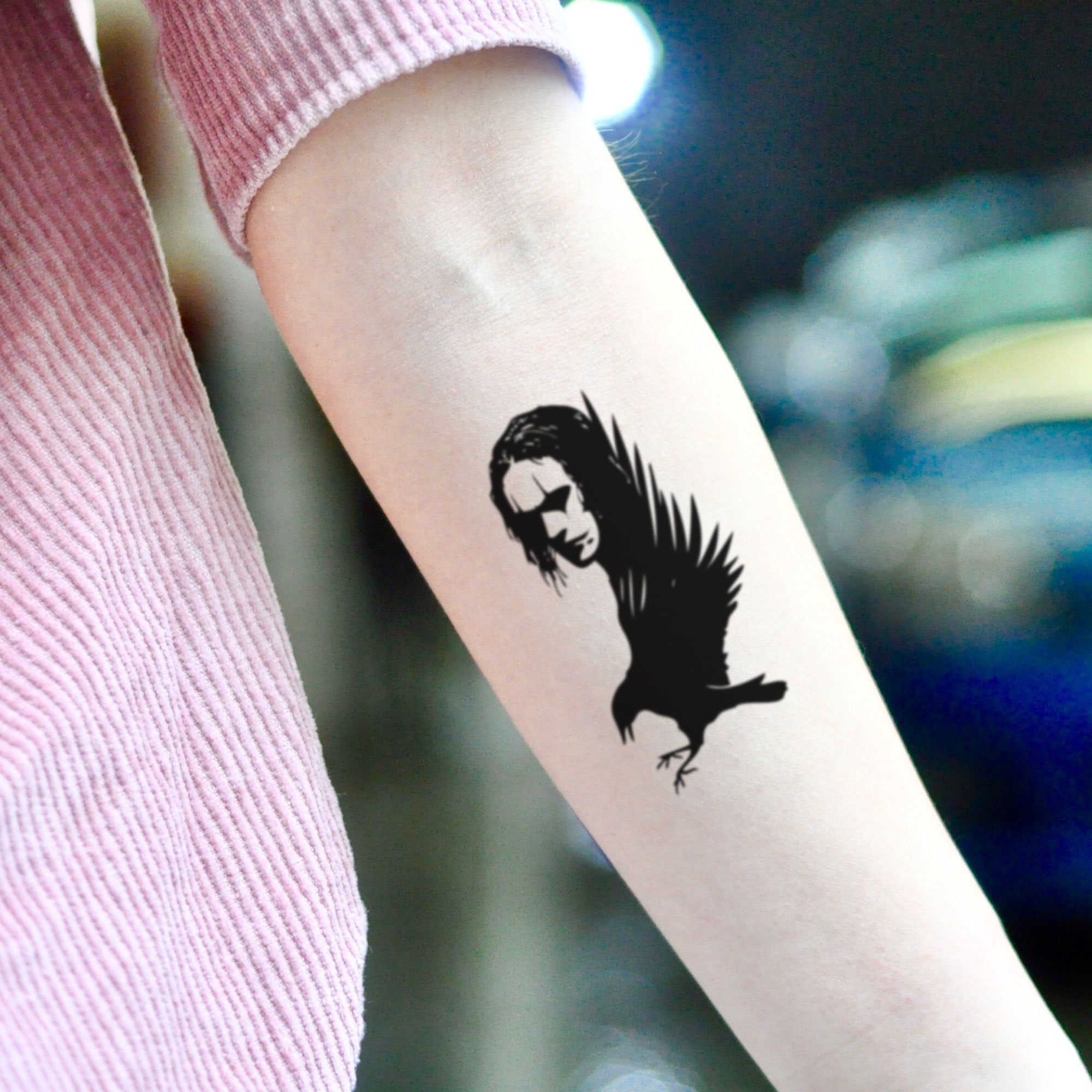 The Crow Brandon Lee Temporary Tattoo Sticker Ohmytat