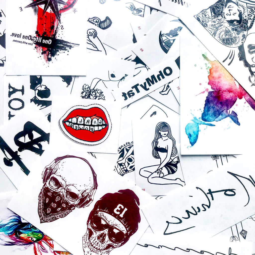 OhMyTat - Custom Design Artificial Temporary Tattoo Stickers magazine