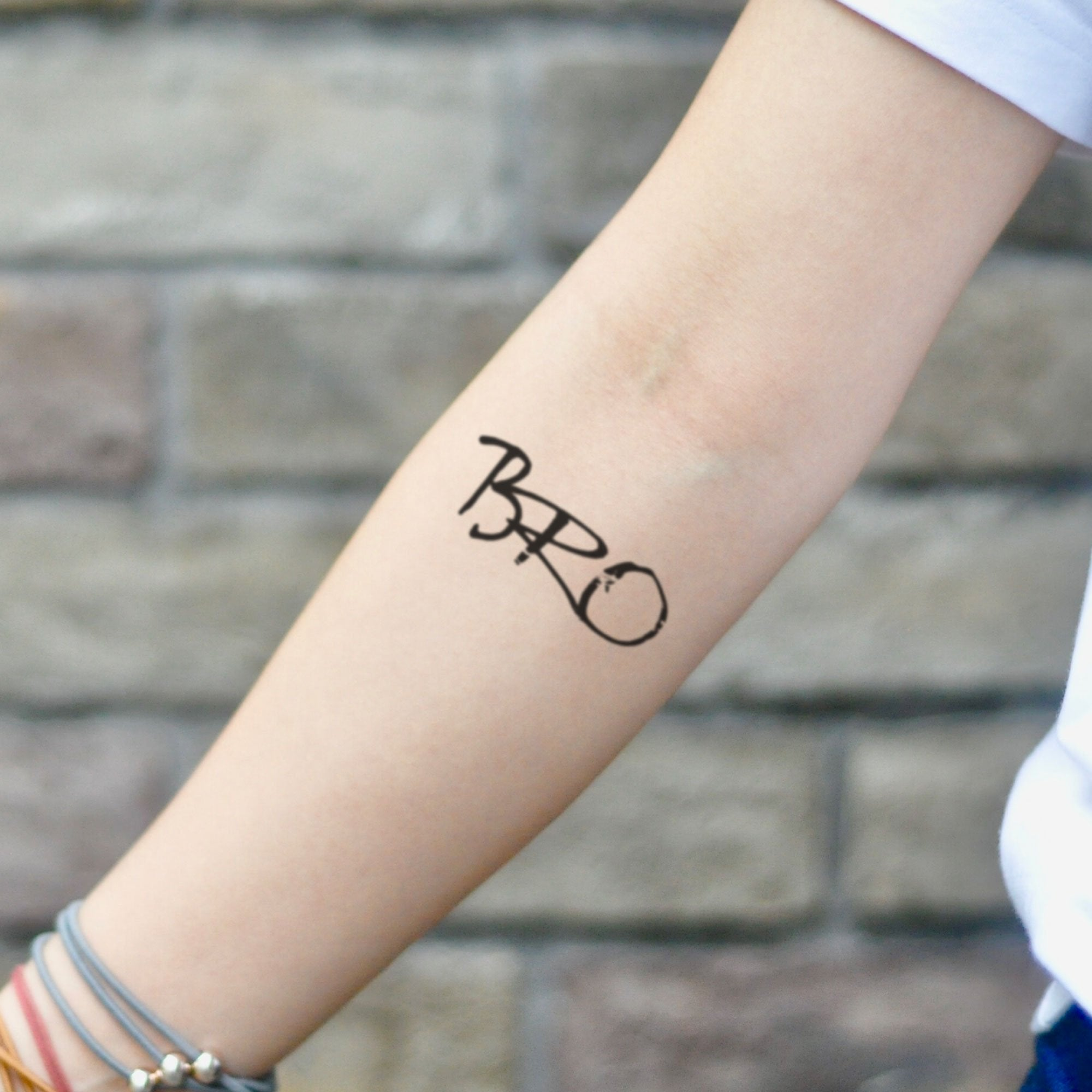 Bro Brothers Forever Temporary Tattoo Sticker Ohmytat