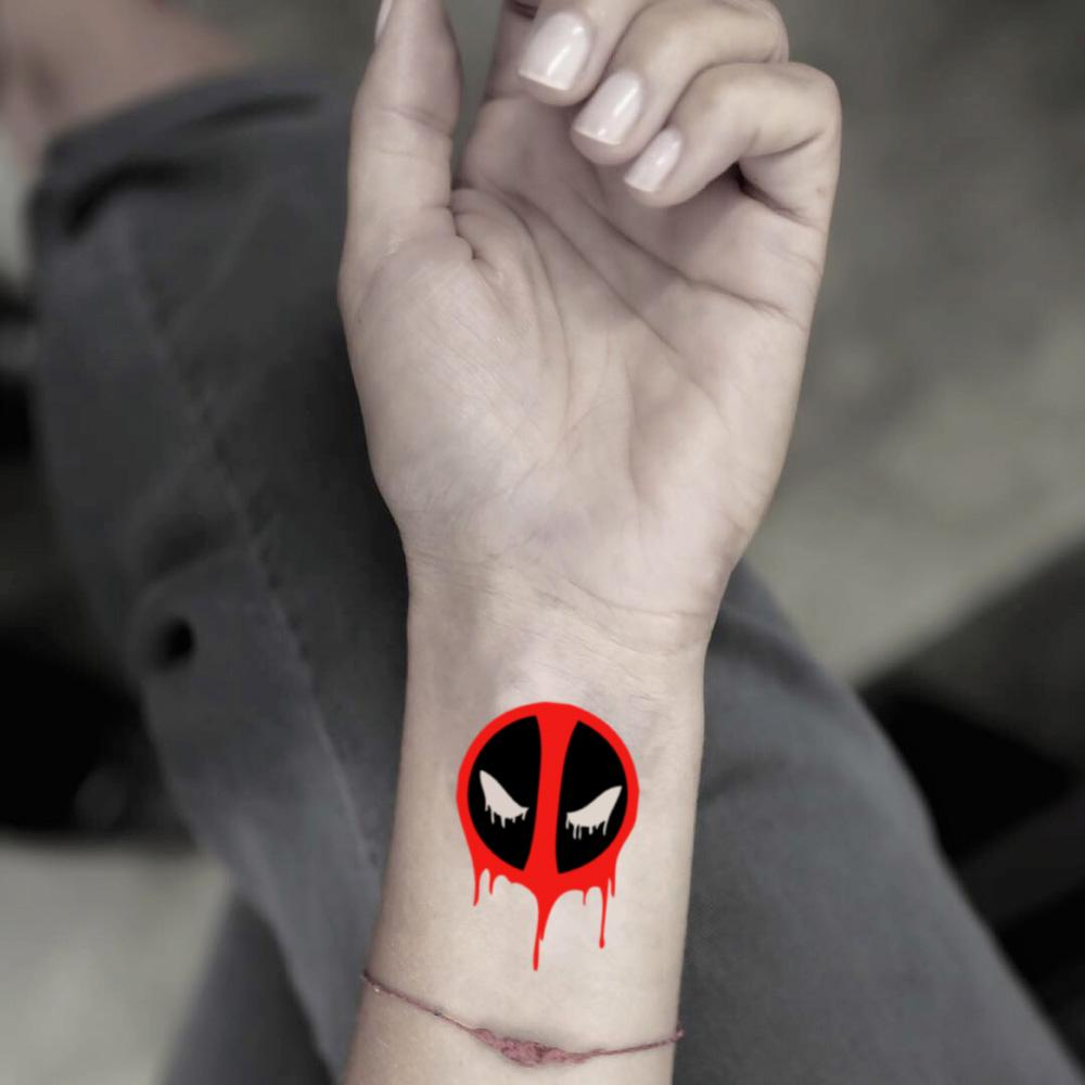 Deadpool Temporary Tattoo Sticker Ohmytat