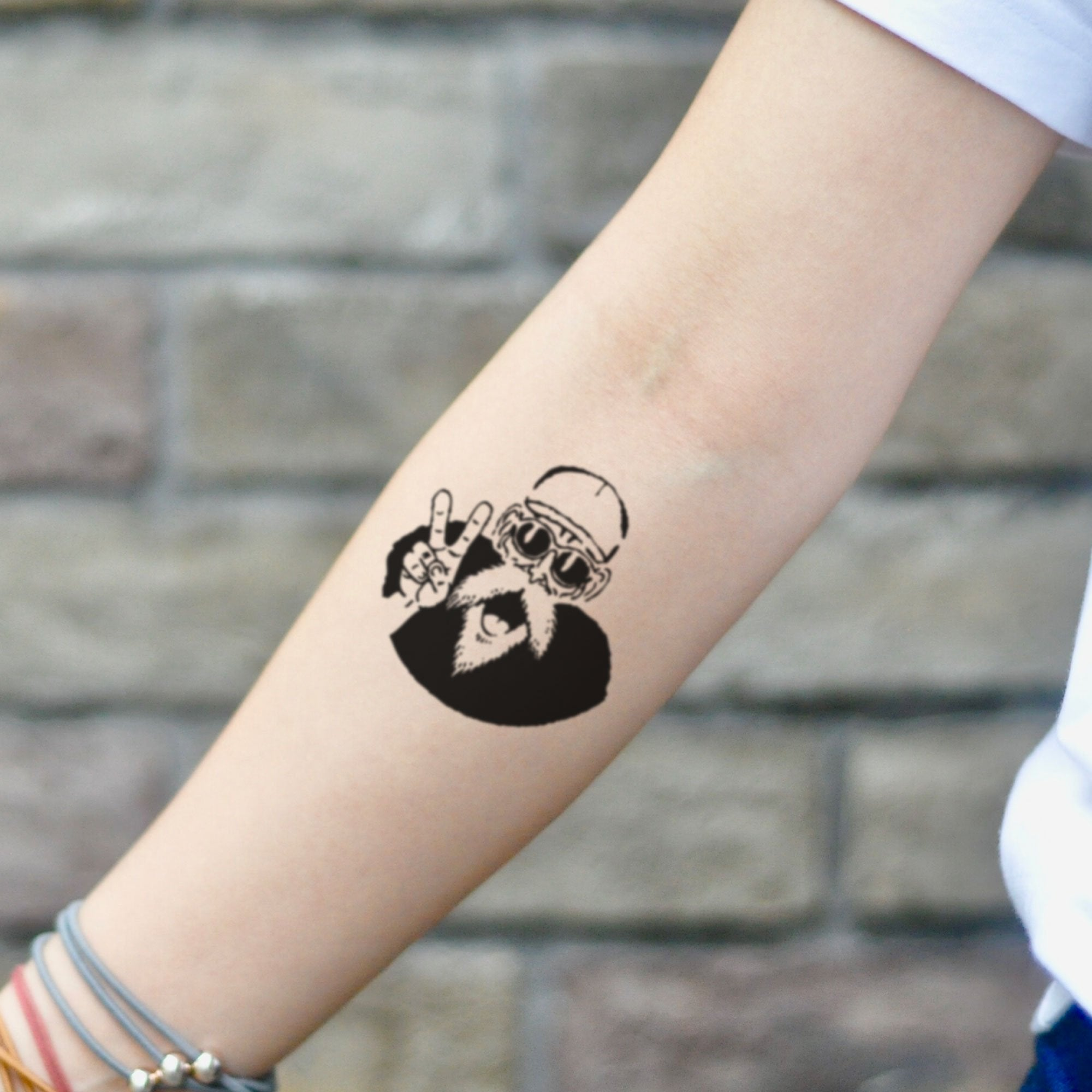 Tattoo Small Ball: Master Roshi Dragon Ball Z Temporary Tattoo Sticker