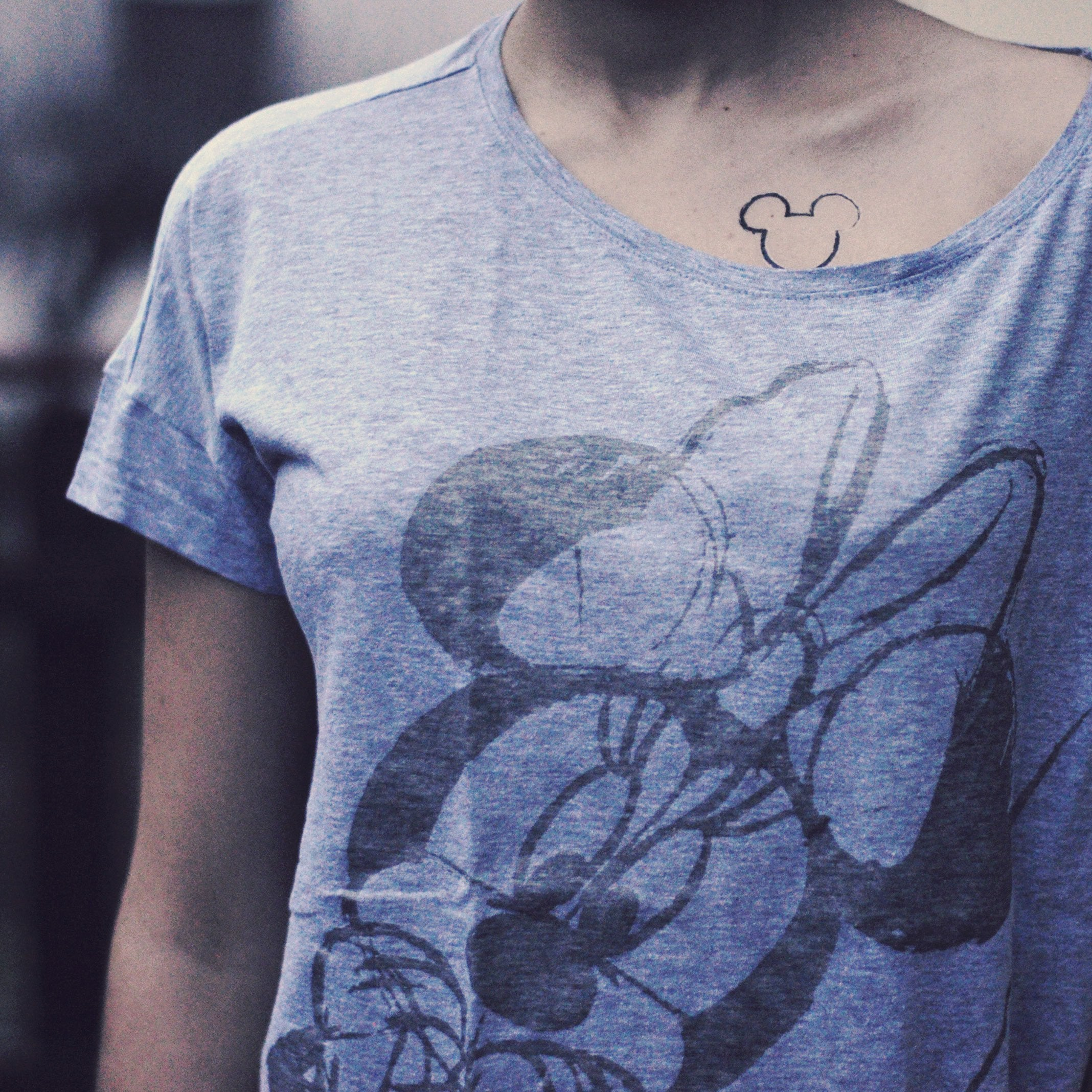 Mickey Mouse Outline Temporary Tattoo Sticker Ohmytat