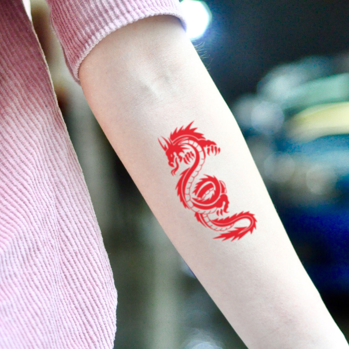 Red Dragon Temporary Tattoo Sticker Ohmytat They can be illustrated in a wide variety of colors and styles. ohmytat