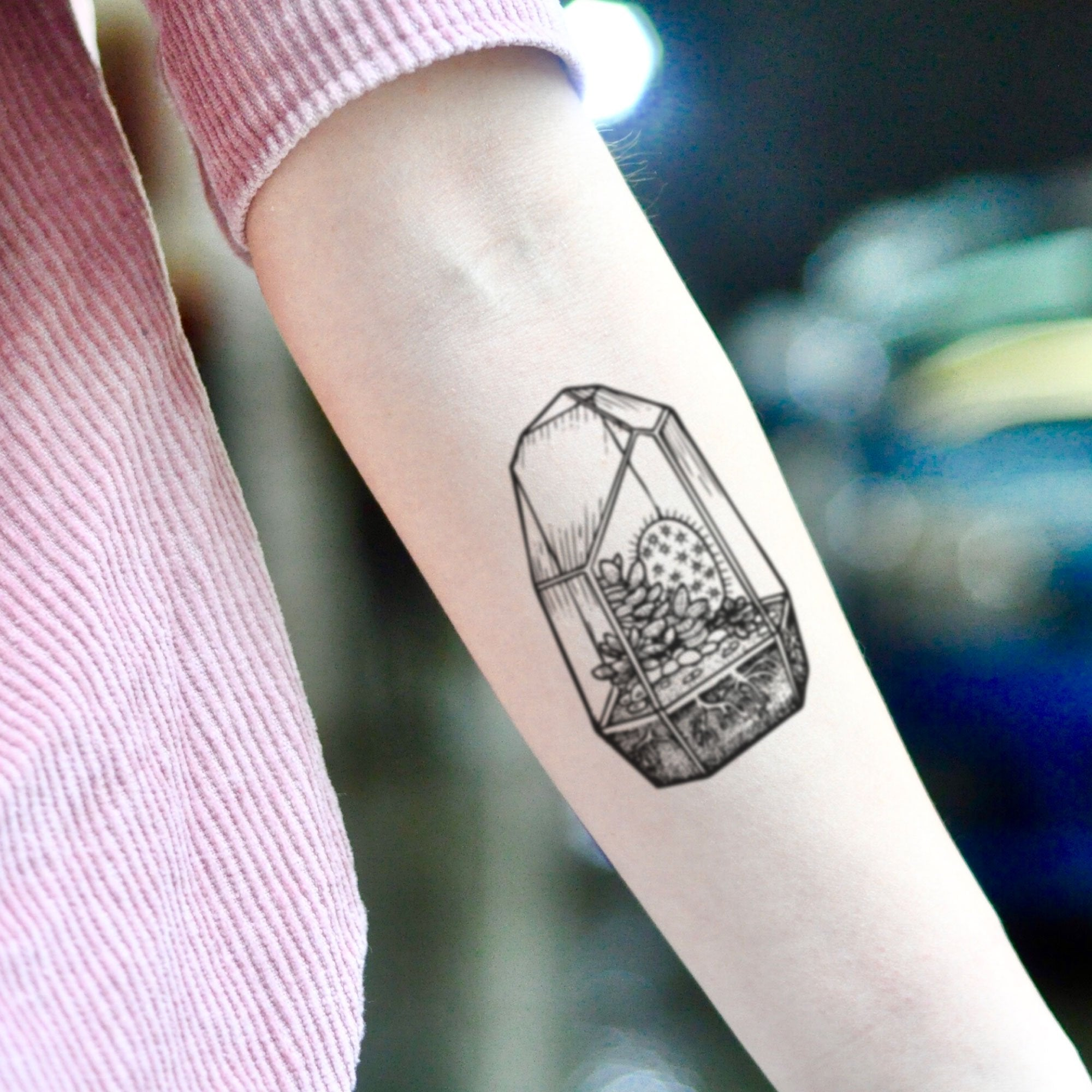 Terrarium Temporary Tattoo Sticker Ohmytat
