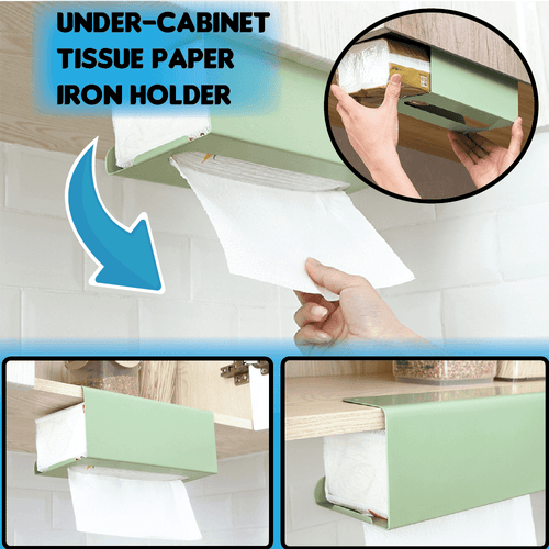 Under-Cabinet Tissue Paper Iron Holder